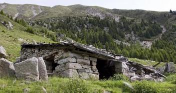 Berghütte bei Goldrain im Vinschgau