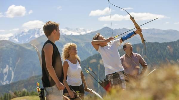 Bogenschießen im Vinschgau Urlaub