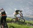 Mountainbiken am Vinschger Sonnenberg hoch über Latsch ©Vinschgau Marketing