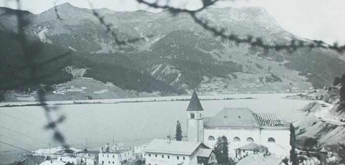 Reschenseeturm im Vinschgau