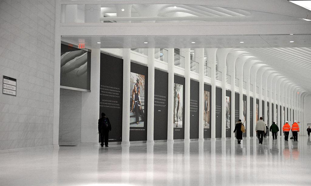 Blick auf die U-Bahn in New York mit dem Laaser Marmer